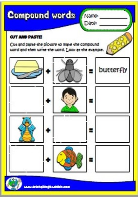 #compoundwords; #worksheets; #printables